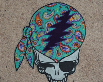Stealie boho corduroy pirate patch