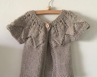 Wool Short Sleeved Cardigan