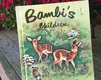 Bambi's Children 1950 by Felix Salten Vintage Children's Book Ages 5 to 10