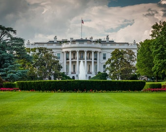 The White House, in Washington, DC. | Photo Print, Stretched Canvas, or Metal Print.