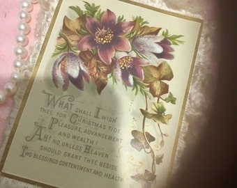 Gorgeous, Victorian Christmas Card
