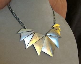 Vintage Geometric Bib Necklace