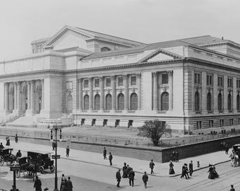 New York Public Library, 1908, New York City, Early 1900's