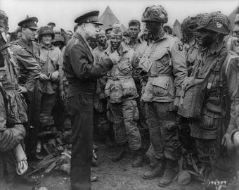 General Dwight D. Eisenhower, D-Day, Normandy, France, 1944, WWII