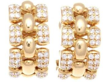 Chopard Diamond Gold Earrings