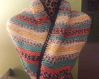 knitted triangle scarf