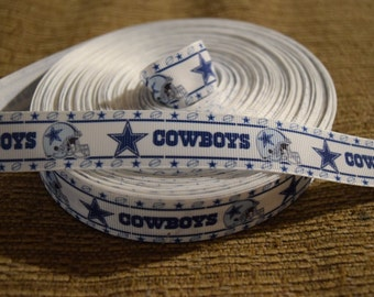 "Dallas Cowboys 7/8""  Grosgrain Ribbon"
