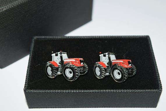 Massey Box Fan : Red massey ferguson tractor cufflinks enamel gift boxed