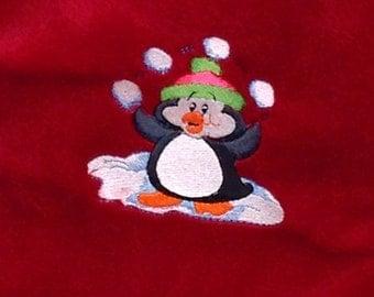 Juggling Penguin Christmas Stocking