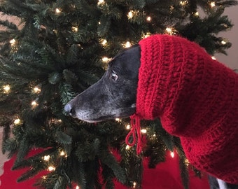 Crocheted Greyhound Snood