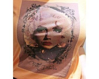 Model Peach Grunge festival handmade hipster top T-shirt