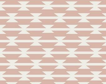 Tomahawk Stripe in Blush Knit- Arizona After by April Rhodes- Art Gallery Fabrics