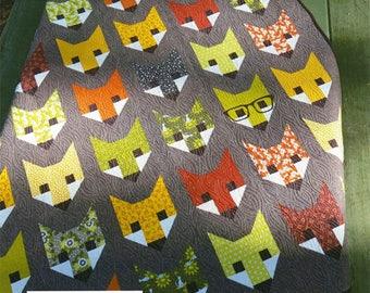 Fancy Fox Quilt Pattern by Elizabeth Hartman Free Shipping in the US