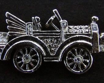 Automobile Brooch, Car Brooch, Car Pin, Auto Pin, Auto Brooch, Convertible Car Brooch, Rhinestone Car, Antique Car Pin, Antique Car Brooch
