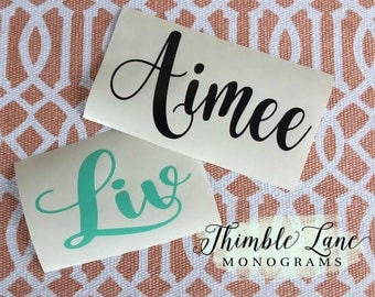 VINYL NAME DECAL -  Monogrammed Decal for Cups -  Yeti Decal - Personalized Name Decal - Name Decal for Tumbler