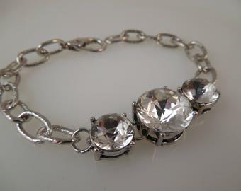 Rhinestone Accent Bracelet Bling Bracelet