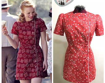Bandanda Print 1950s Allie Playsuit
