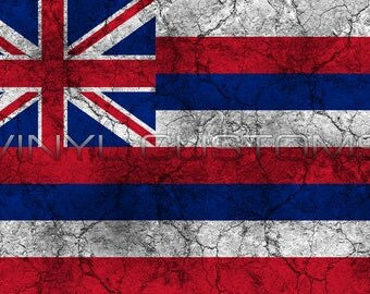 Hawaii State Flag Vinyl Decal Sticker
