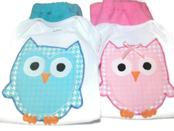Twin Baby Clothes Boy Girl Twin Outfits Owl Baby Clothes