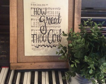 How Great Thou Art | Hand Painted Sign | hymn