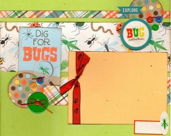 Dig for Bugs Scrapbooking page kit - Bug Collection
