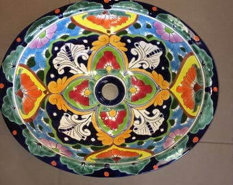 Colorful Talavera Sink - Free Shipping!