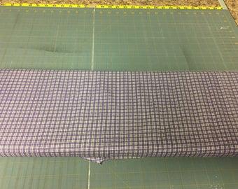 Purple mini plaids Fabric by the yard