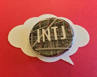 MBTI INTJ button | meyer briggs personality pin
