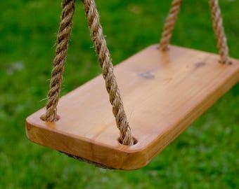Wooden Swing, Tree Swing, Old Fashioned Tree Swing, Wood Swing, Kids Swing, Wooden Kids Swing, Rope Swing