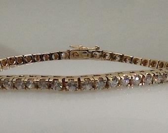 Sterling silver vermeil (gold plated) tennis bracelet