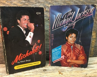 Vintage Michael Jackson Books/Set of Two/Paper Back/Micheal!/The Michael Jackson Story