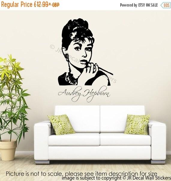 5 discount large audrey hepburn wall art sticker by jrdecal