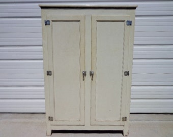 Cabinet Industrial Vintage Tall Linen Closet Medical Dental Antique Storage  Media Armoire Stand Mid Century Modern
