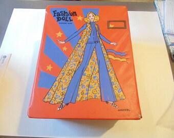 Vintage Fashion Doll Wardrobe Trunk Vintage Doll Trunk