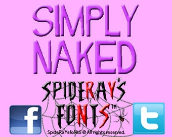 SIMPLY NAKED Commercial Font