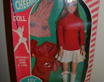 Vintage Barbie Clone Texaco Cheerleader Doll British Crown Colony Hong Kong MiB Looks like American Girl head mold Blonde 1960's