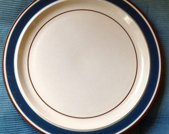 Journey Blue Stoneware Dinner Plate 10.5 inch Japan