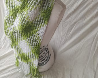 Crochet scarf in Eco-Cotton