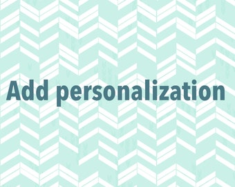 Add-on Personalization