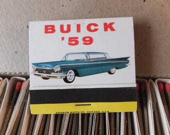 Collectible 1959 Buick Matchbooks, Matches, Match Book - Full Box of 50