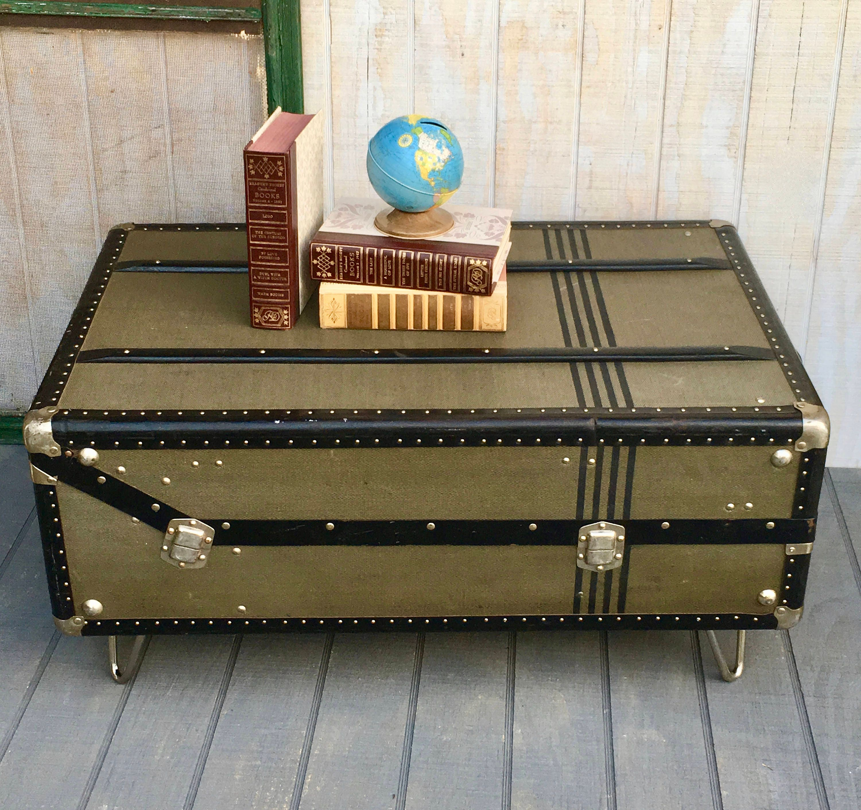 Vintage Gentleman s Trunk 1930 s Coffee Table Made