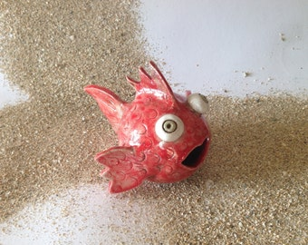 Big Mouth Raku RedFish