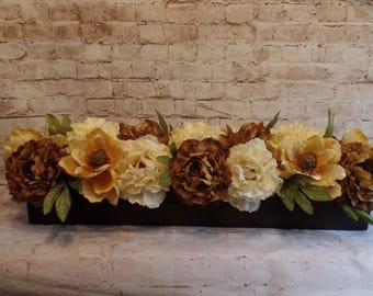 36 Inch Long Boxed Hydrangeas, Peonies and Magnolias - Great Centerpiece