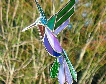 D coration de la fen tre 3d hummingbird suspendu vitrail for Fenetre a cardinal
