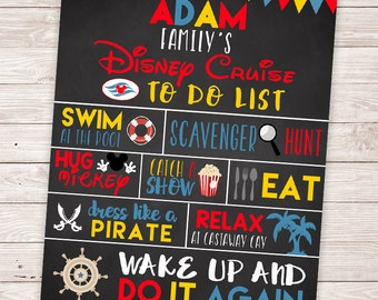 PRINTABLE Disney Cruise Door Sign - DIY Disney Cruise Door Magnet - Customized Chalkboard Family Cruise : disney door - Pezcame.Com