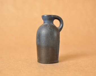Ruscha keramik vase - 321/1 - Blue black blue glaze -  - West German pottery