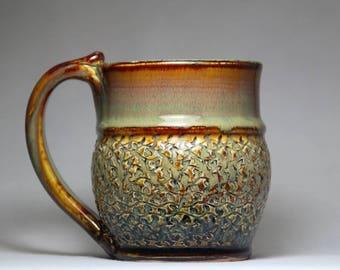 stoneware pottery mug, 12oz coffee cup