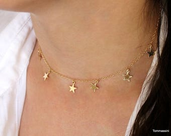 Star necklace, Dainty Gold Filled or Silver Star Pendant Necklace, Delicate Layered Necklace, gold star necklace, dainty gold necklace,