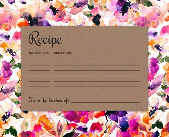 Wedding Gift Recipe Cards : ... Recipe Cards - Rustic Housewarming Gift - Bridal/Wedding/Baby Shower