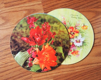 Vintage Round Floral Greeting Cards